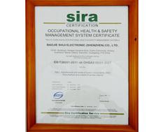 宝捷SIRA2007证书